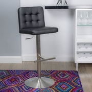 Matrix Adjustable Height Swivel Bar Stool; Black
