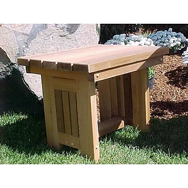 WoodCountry Cabbage Hill Side Table; Cedar Stain
