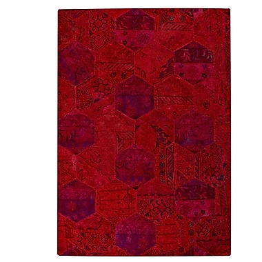 Hokku Designs Honey Comb Siena Red Area Rug; Rectangle 5'2'' x 7'6''