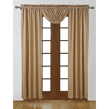August Grove Marie Striped Semi-Sheer Rod Pocket Curtain Panels (Set of 2); 36'' W x 63'' L