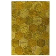 Hokku Designs Honey Comb Siena Gold Area Rug; 5'2'' x 7'6''
