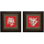 Propac Images Coral On Red I / IV Framed Graphic Art (Set of 2)