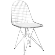 Edgemod Hamlet Genuine Leather Upholstered Dining Chair (Set of 2); White
