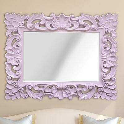 Stratton Home Decor Elegant Ornate Wall Mirror; Purple WYF078278355659