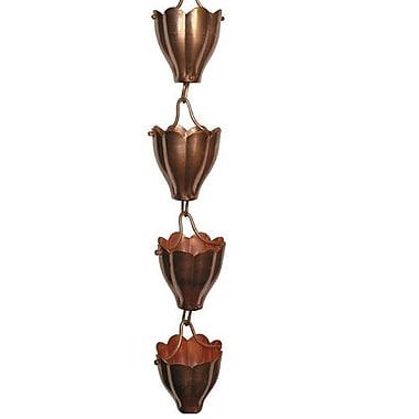 QuestProducts Tatianna Fluted Cup Rain Chain