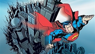 Room Mates Surestrip Superman Chair Rail Prepasted 10.5' x 72'' Wall Mural WYF078276761977