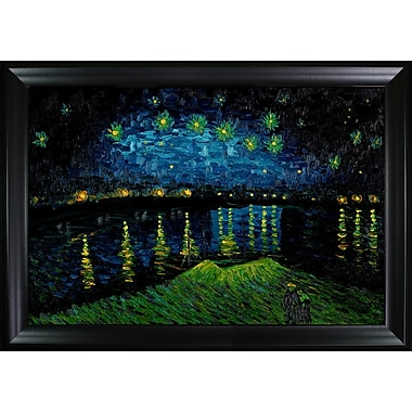 Tori Home Starry Night Over the Rhone by Vincent Van Gogh Framed Painting