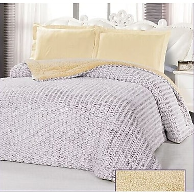Glory Home Design Borrego Luxurious 3 Ply Embossed Blanket