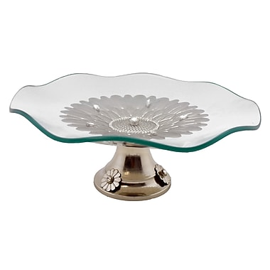 Three Star Wavy Round Base Platter