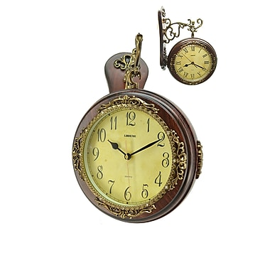 Three Star Double Faced Hanging Clock
