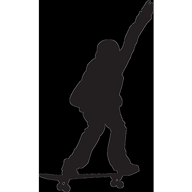 Wallhogs Skateboard Silhouette X Cutout Wall Decal; 48'' H x 28.5'' W