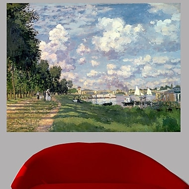 Wallhogs Monet The Marina at Argenteuil (1872) Wall Mural; 18'' H x 24'' W