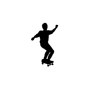 Wallhogs Skateboard Silhouette XIII Cutout Wall Decal; 60'' H x 37'' W