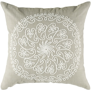 Wildon Home Charlita Cotton Throw Pillow; Khaki