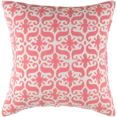 Wildon Home Charisa Cotton Pillow Cover; Pink / White