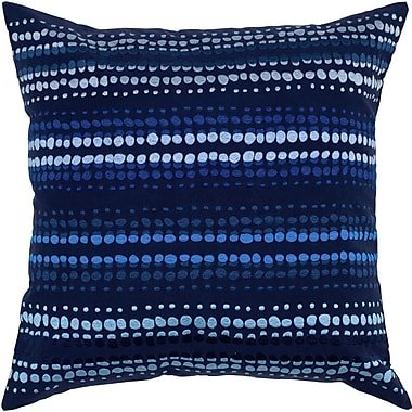 Wildon Home Charlott Cotton Throw Pillow; Indigo Blue / Blue