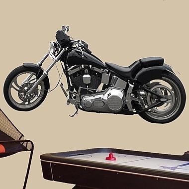 Wallhogs Motorcycle II Cutout Wall Decal; 22'' H x 48'' W