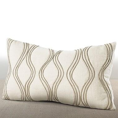 Chauran Cirque Linen Lumbar Pillow; Ivory