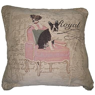 DaDa Bedding Royal Dog Woven Cushion Cover (Set of 2)