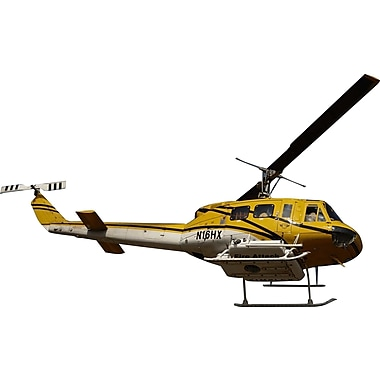 Wallhogs Chibi Fire Attack Helicopter Cutout Wall Decal; 22'' H x 36'' W