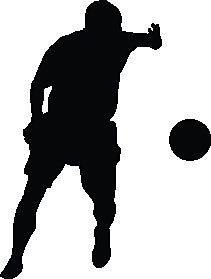 Wallhogs Soccer II Silhouette Cutout Wall Decal; 24'' H x 14'' W