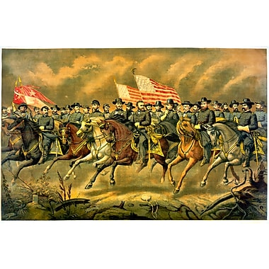 Wallhogs Buell Grant and His Generals (1865) Poster Wall Mural; 24'' H x 36'' W