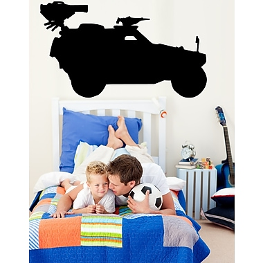 Wallhogs Haynes Military Military Jeep Silhouette Cutout Wall Decal; 34.5'' H x 60'' W