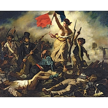 Wallhogs Delacroix Liberty Leading the People (1830) Poster Wall Mural; 48'' H x 60'' W
