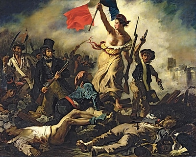 Wallhogs Delacroix Liberty Leading the People (1830) Poster Wall Mural; 28.5'' H x 36'' W