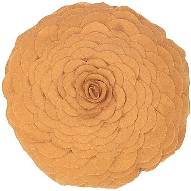 Wildon Home Destini Wool Throw Pillow; Gold