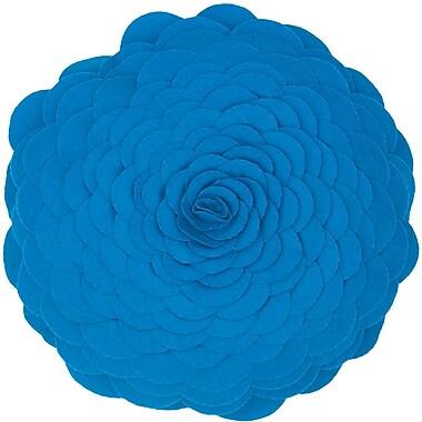 Wildon Home Destini Wool Throw Pillow; Blue