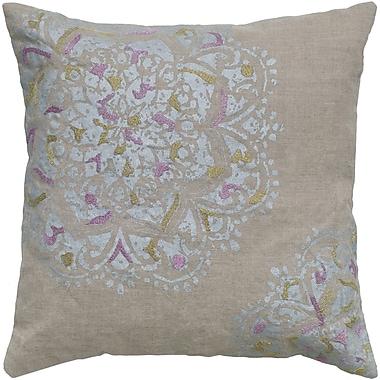 Wildon Home Chesney Flower Linen Throw Pillow