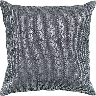 Wildon Home Sequin Embroidered Cotton Throw Pillow; Silver