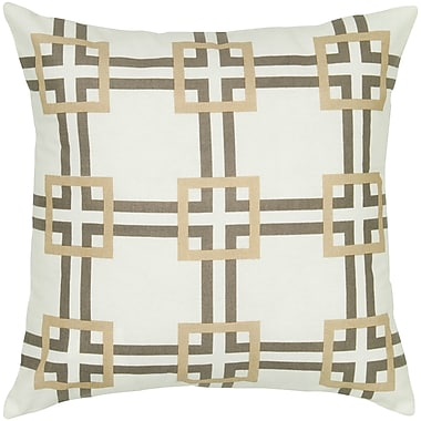 Wildon Home Charise Cotton Pillow Cover; Gray