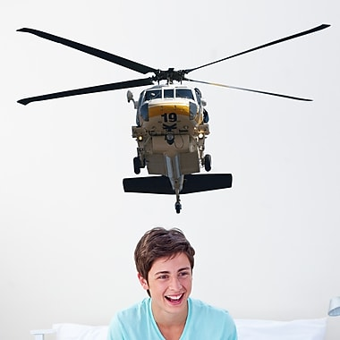 Wallhogs Chibi LACoFD Copter 19 Front View Cutout Wall Decal; 29'' H x 48'' W