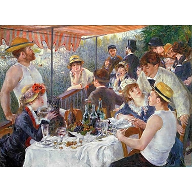 Wallhogs Renoir The Luncheon of The Boating Party (1881) Wall Mural; 26.5'' H x 36'' W