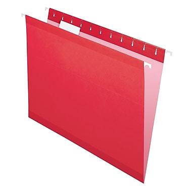 Pendaflex® - Chemises suspendues de luxe Reversaflex®, format lettre, 8 1/2 po x 11 po, rouges