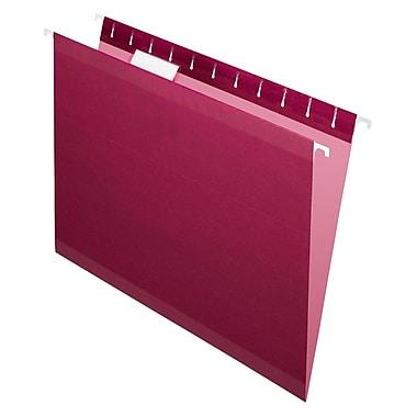 Pendaflex® - Chemises suspendues de luxe Reversaflex®, format lettre, 8 1/2 po x 11 po, bourgogne