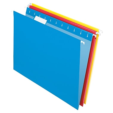 Staples® Coloured Hanging File Folder Kit, Letter Size, 8-1/2