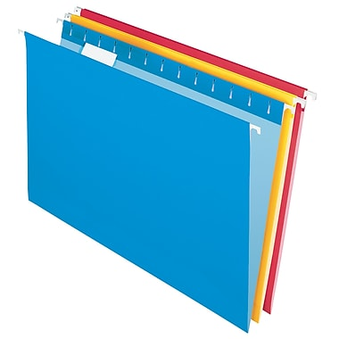 Staples® Coloured Hanging File Folder Kit, Legal Size, Assorted Colours