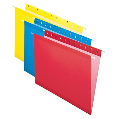 Pendaflex® - Chemises suspendues de luxe Reversaflex®, format lettre, 8 1/2 po x 11 po, couleurs variées