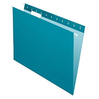 Pendaflex® Coloured File Hanging Folder, Letter Size, Teal, 25/Box