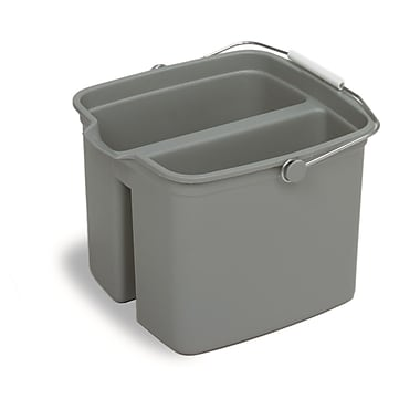 Gray Huskee 4 Gal Divided Bucket, Each
