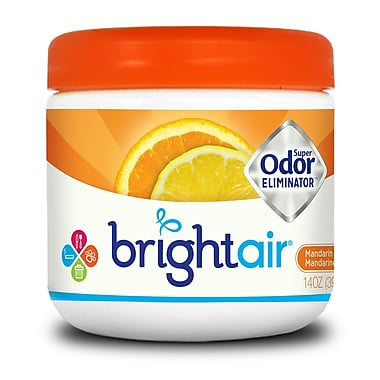 Bright Air Mandarin & Fresh Lemon Scent Super Odor Eliminator 365g, 6 Packs/Case
