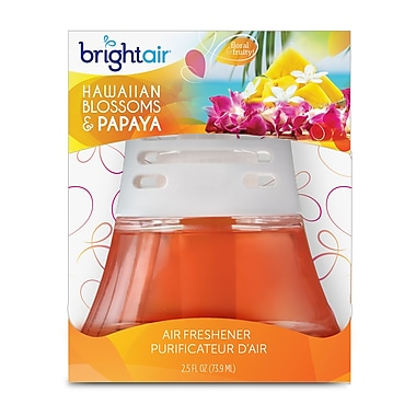 Bright Air Scented Oil Air Freshener non-electric Hawaiian & Papaya Scent, 6 Packs/Case