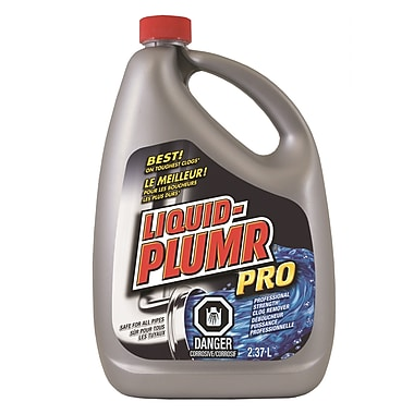 Liquid Plumr® Pro-Strength Slow Flow Fighter, 2.37 L, 6/Pack (CL01165)