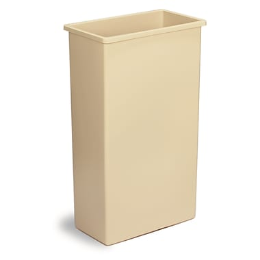 8322beige 23 Gal Wall Hugger Container 19.75