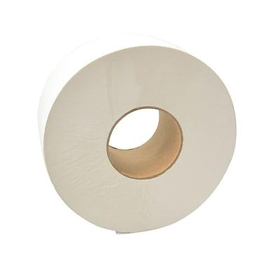 Dura Plus – Papier hygiénique blanc JRT, 1 épaisseur, no 2000, centre de 3,3 po, 8/boîte