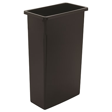 8322black 23 Gal Wall Hugger Container 19.75