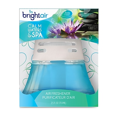 Bright Air Scented Oil Air Freshener non-electric Spa & Calm Waters, 6 Packs/Case